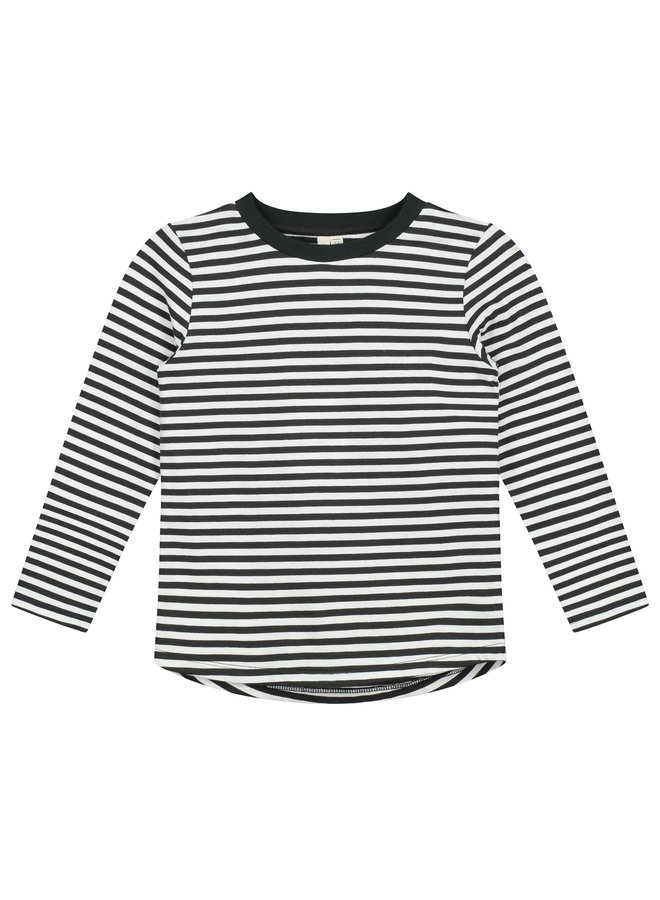 Gray Label | l/s tee | nearly black/off white
