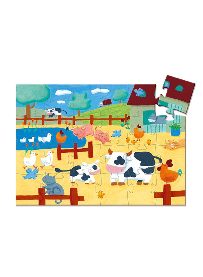 Djeco | puzzel | the cows on the farm | 24 stukjes