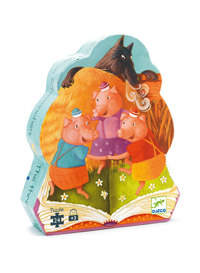 Djeco | puzzel | the 3 little pigs | 24 stukjes