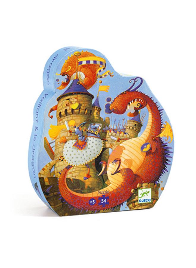 Djeco | puzzel | vaillant and the dragon | 54 stukjes