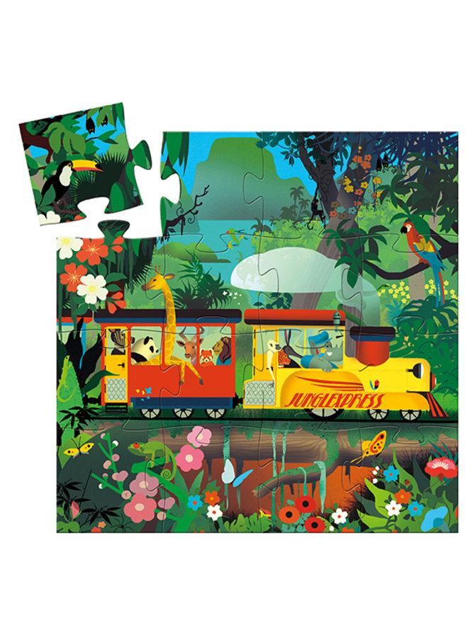 Djeco   puzzel   the locomotive   16 stukjes
