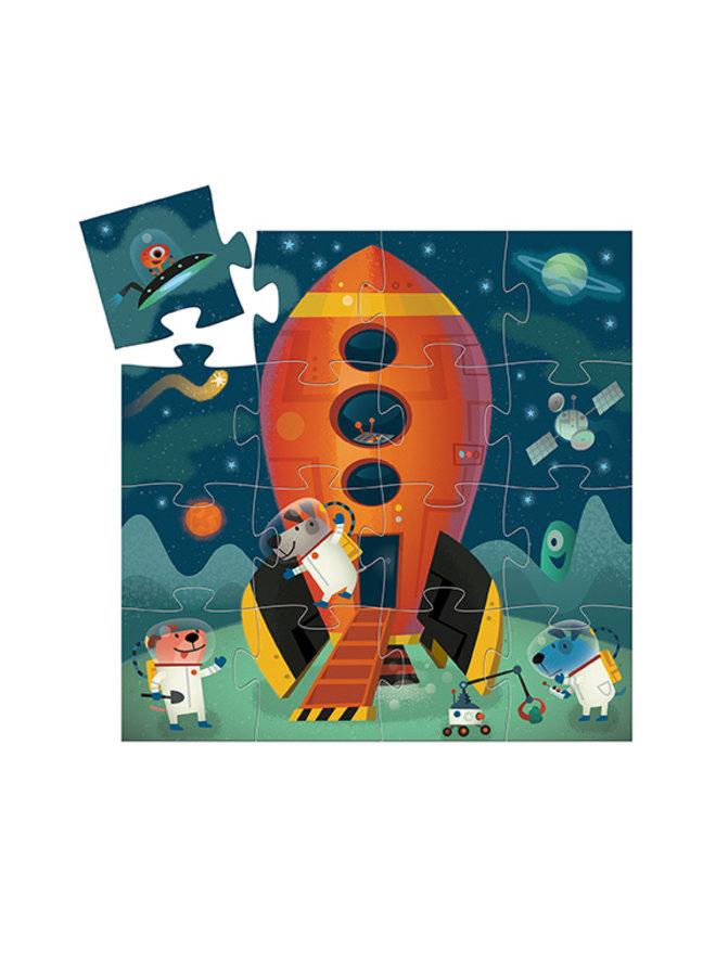 Djeco | puzzel | spaceship | 16 stukjes