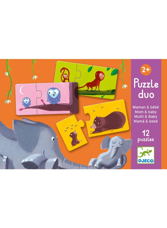 Djeco   duo puzzel   mom & baby