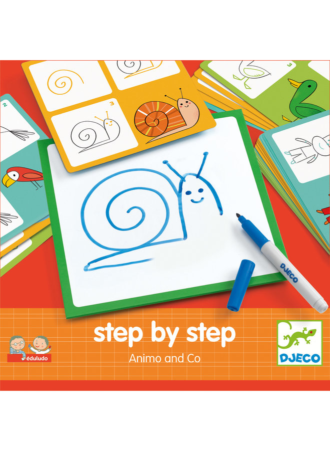 Djeco | eduludo | step by step | animals and co