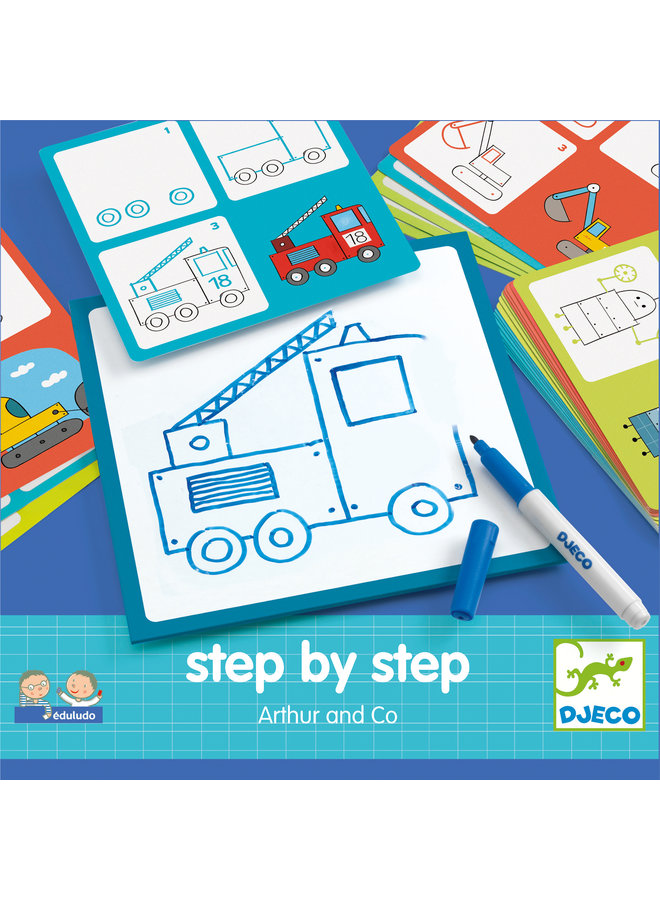 Djeco | eduludo | step by step | arthur and co