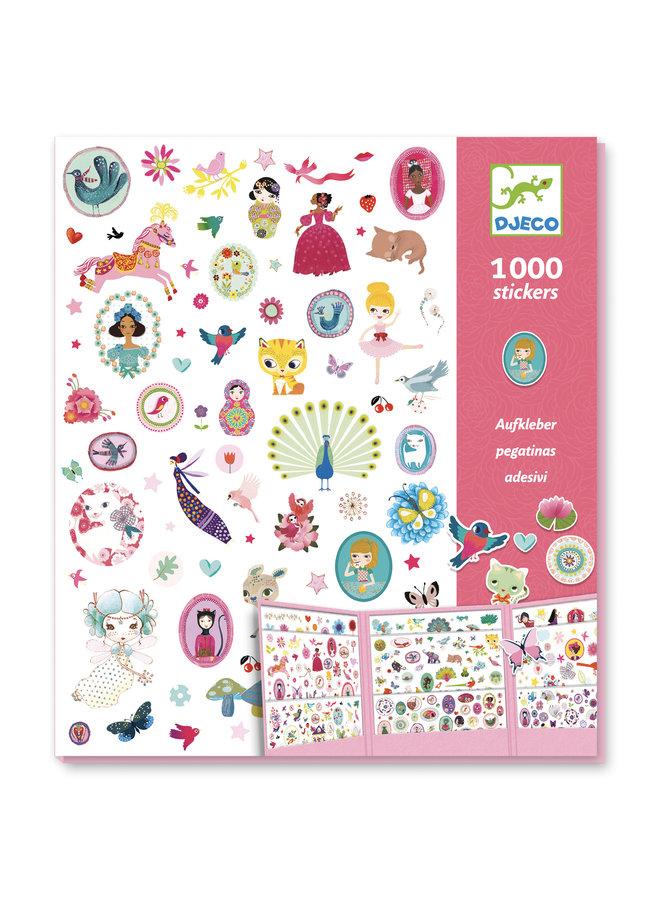Djeco | 1000 stickers | sweet