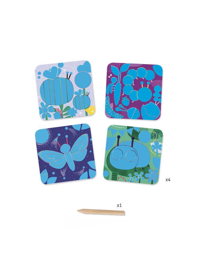 Djeco | kraskaarten voor de kleintjes | bugs