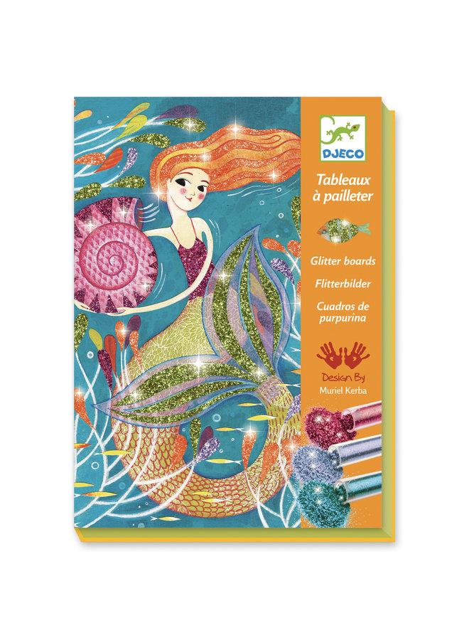 Djeco | glitterschilderijen | mermaids lights
