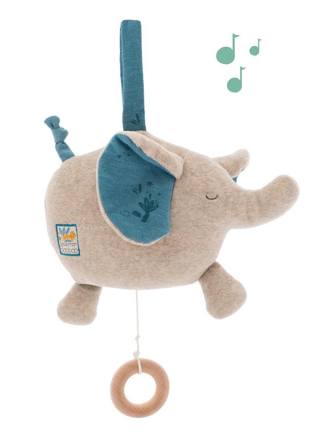 Moulin Roty | muziekknuffel | olifant