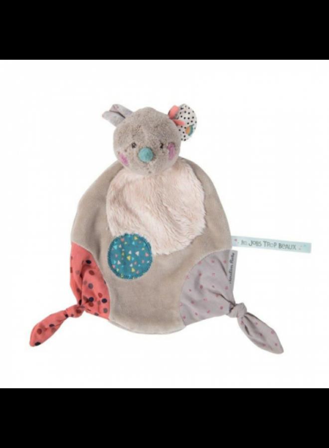 Moulin Roty   knuffeldoekje   muis