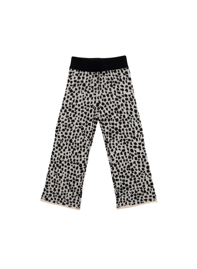 Maed for mini | snow leopard aop | knit culotte
