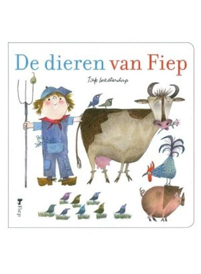 Boeken   de dieren van fiep een bonte beestenboel   kartonboek   3+