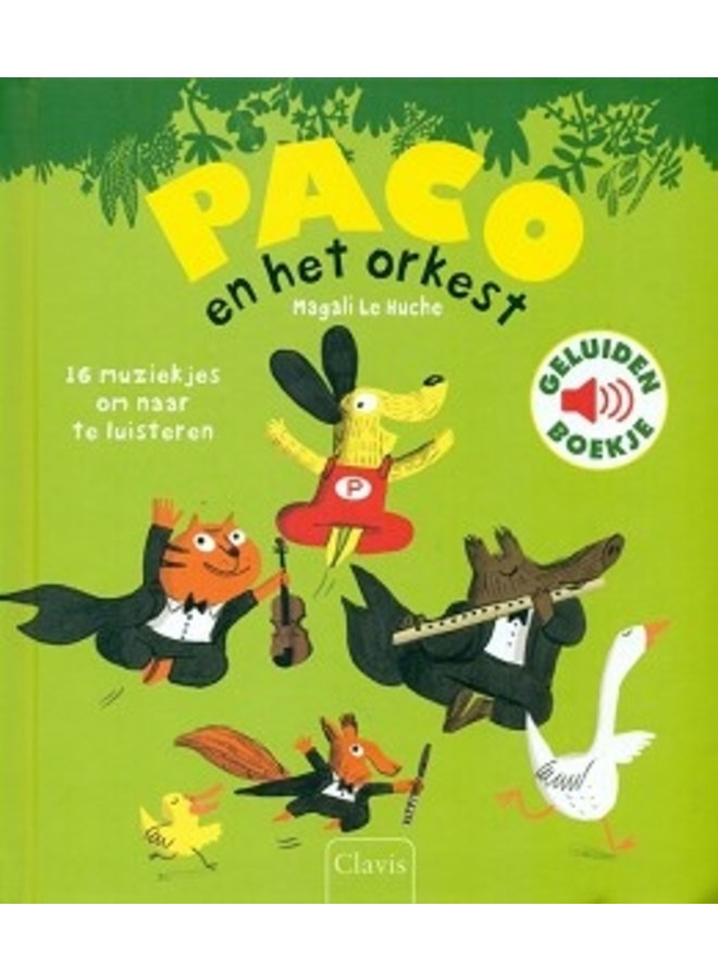 Boeken | paco en het orkest | geluidenboek | 3+