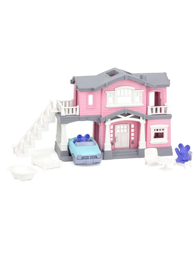 Green Toys | speelhuis | roze