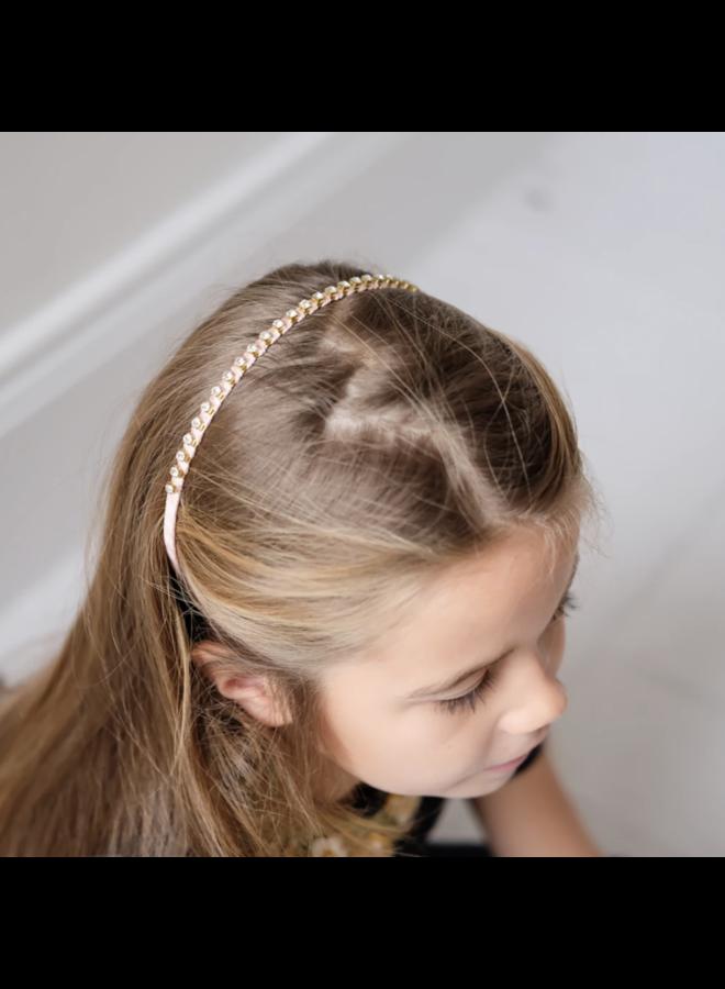 Mimi & Lula | haarband | diamantjes | roze