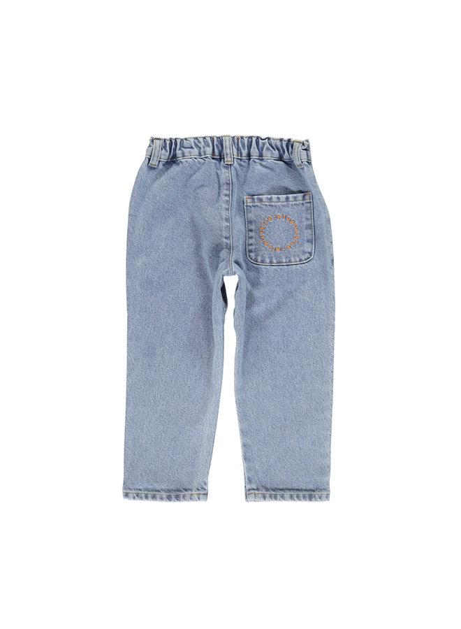 Piupiuchick | unisex trousers | light blue denim jeans