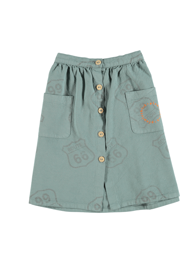Piupiuchick | long skirt | forest green with allover