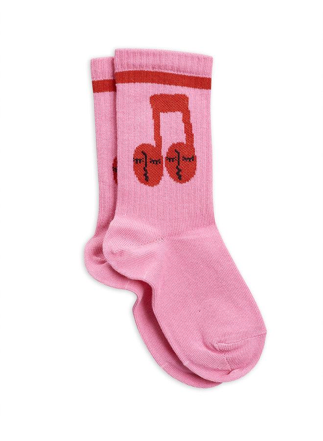 Mini Rodini | notes socks | pink