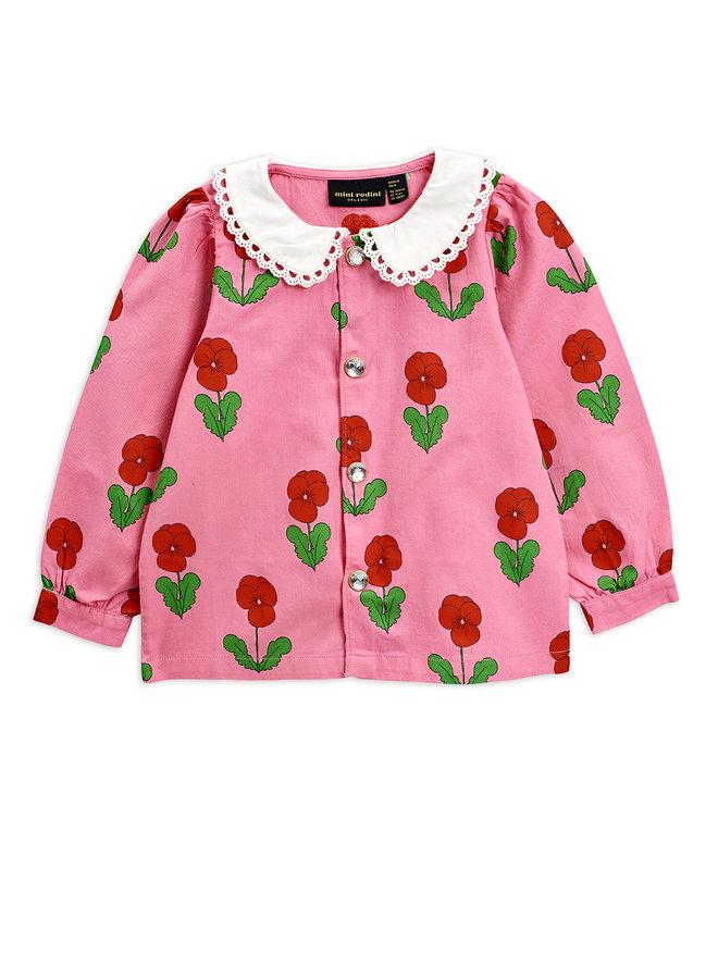 Mini Rodini   violas woven blouse   pink