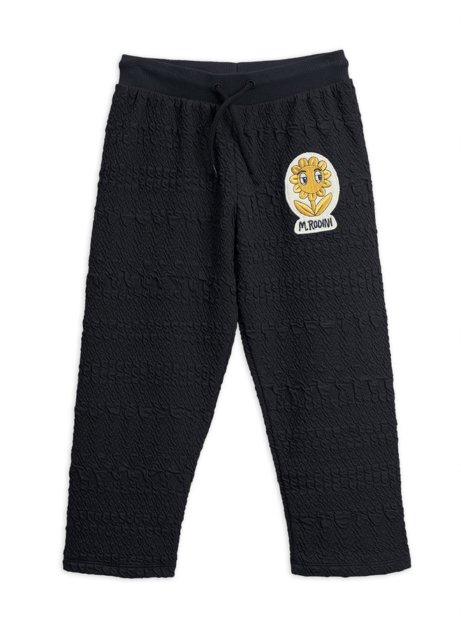 Mini Rodini | flower patch sweatpants | black