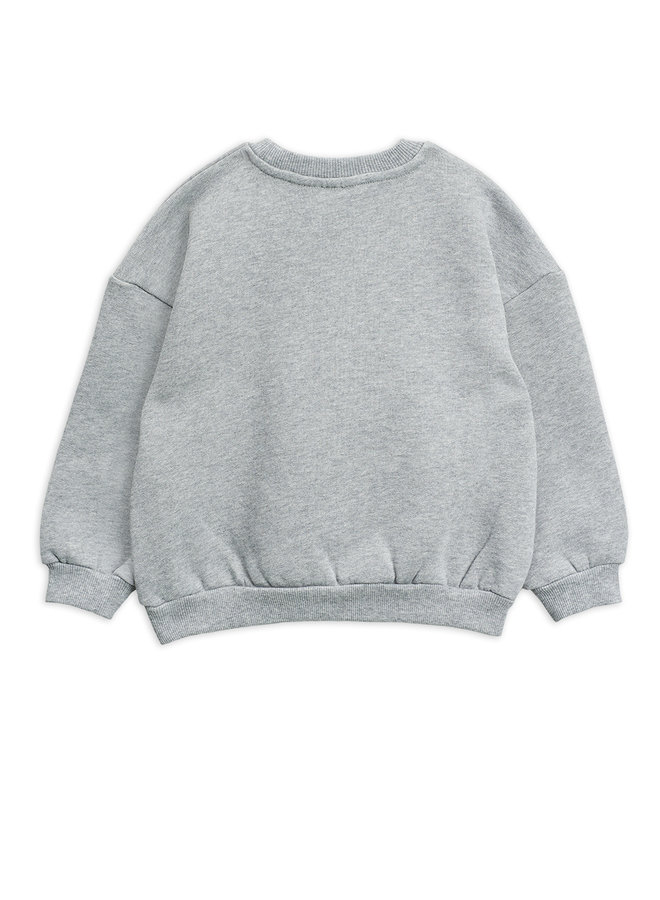 Mini Rodini   flower sp sweatshirt   grey melange