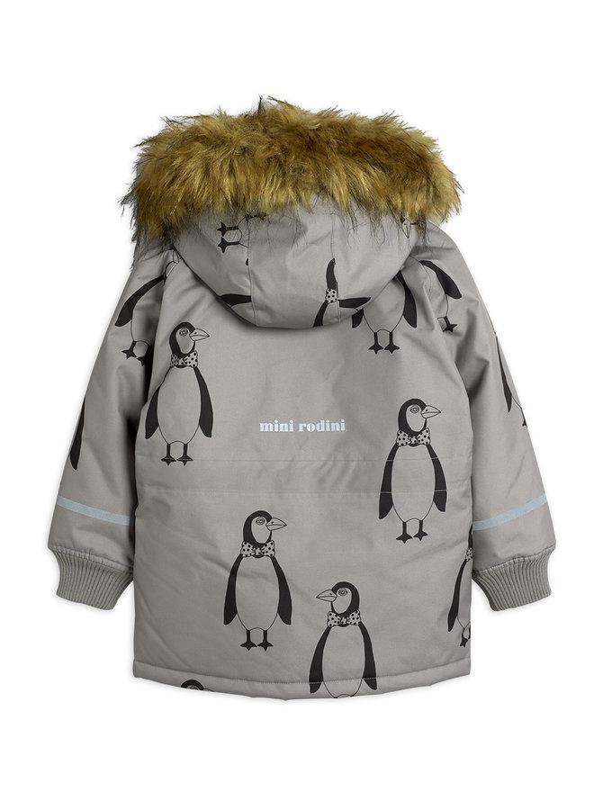 Mini Rodini | penguin parka | grey