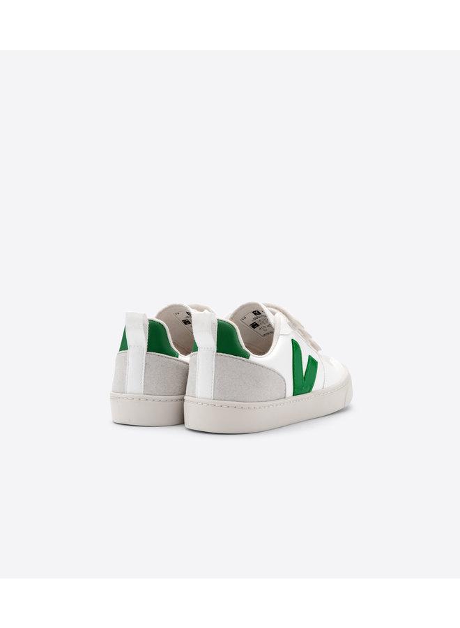 Veja | small v10 velcro | white emeraude