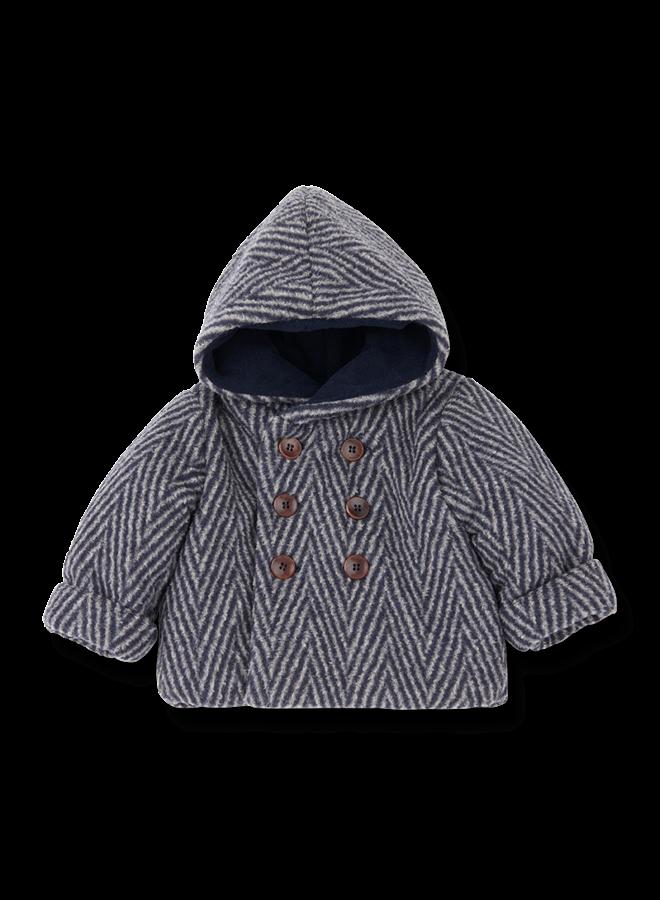 1+ in the family   pollino hood jacket   beige/blue notte