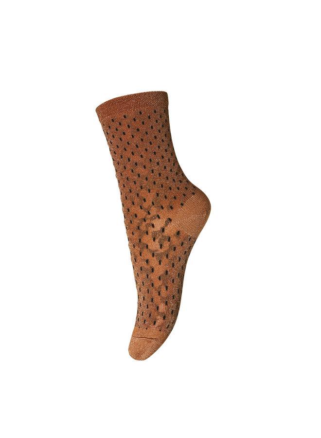 MP Denmark | sokken | glitter | bruin/goud