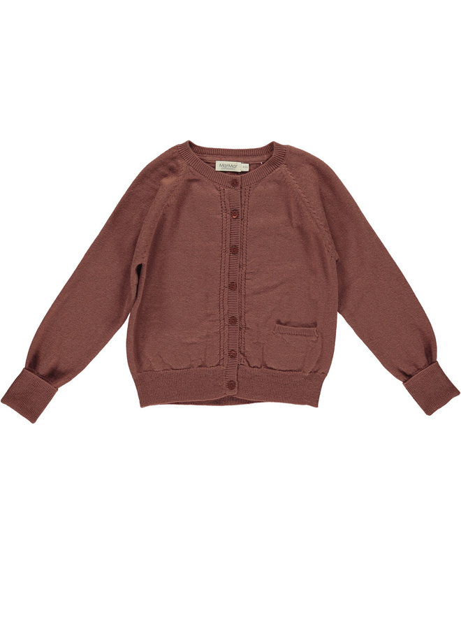MarMar   tillie   knit vest   dark brick