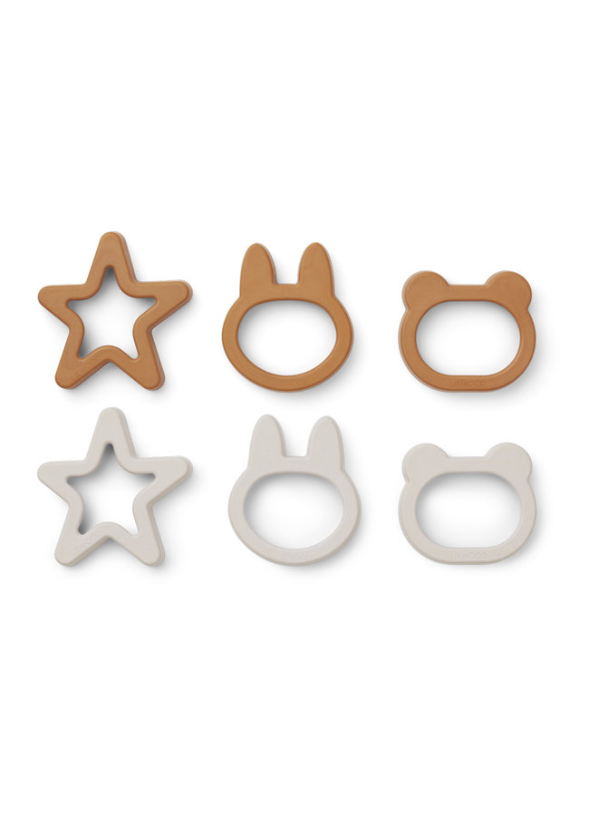 Liewood | andy cookie cutter 6 pack | mustard mix