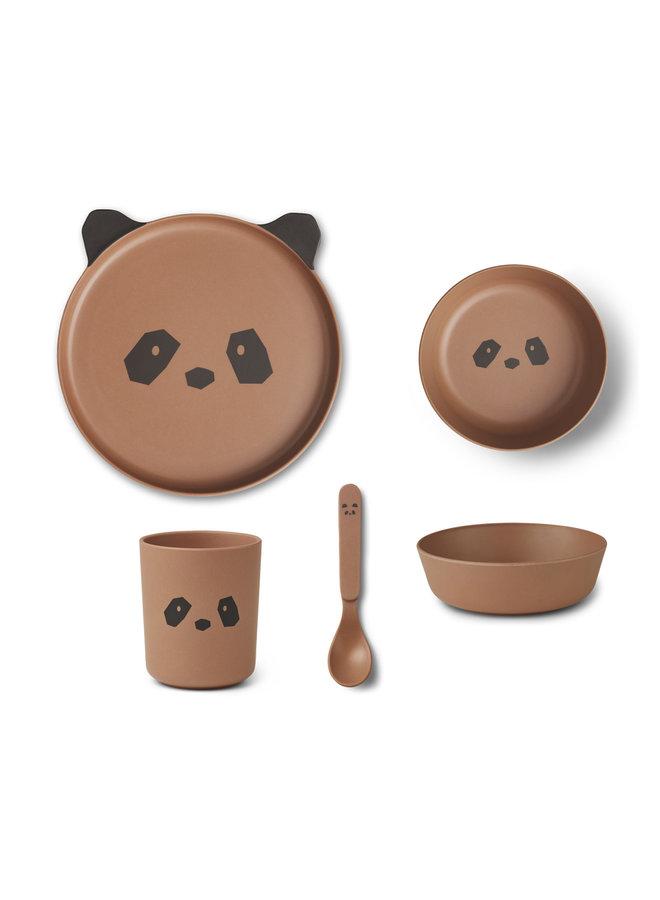 Liewood | bamboo box set | panda tuscany rose