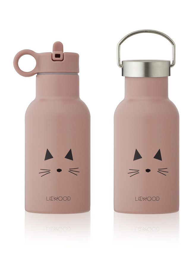 Liewood   anker water bottle   cat rose