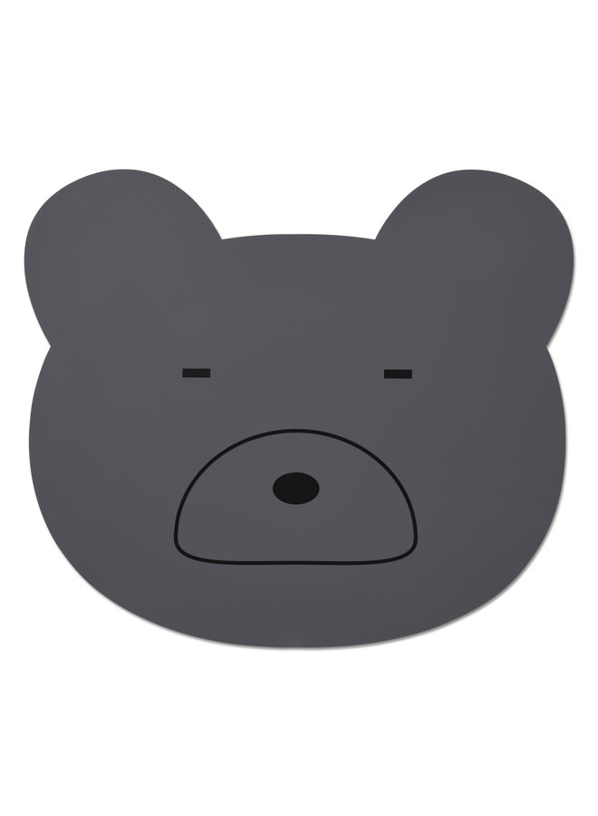 Liewood | aura placemat | mr bear stone grey