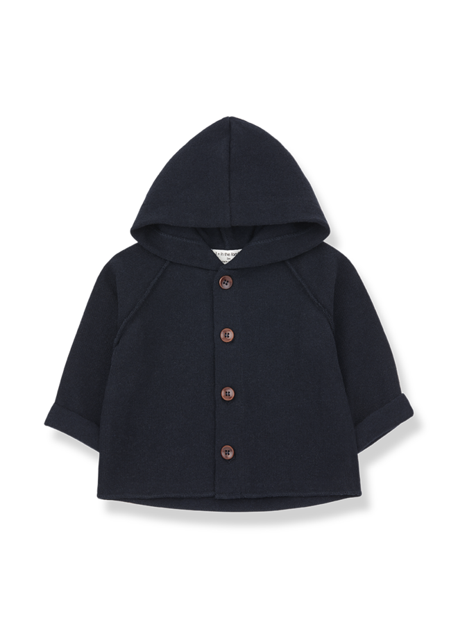 1+ in the family | sau hood jacket |  blue notte