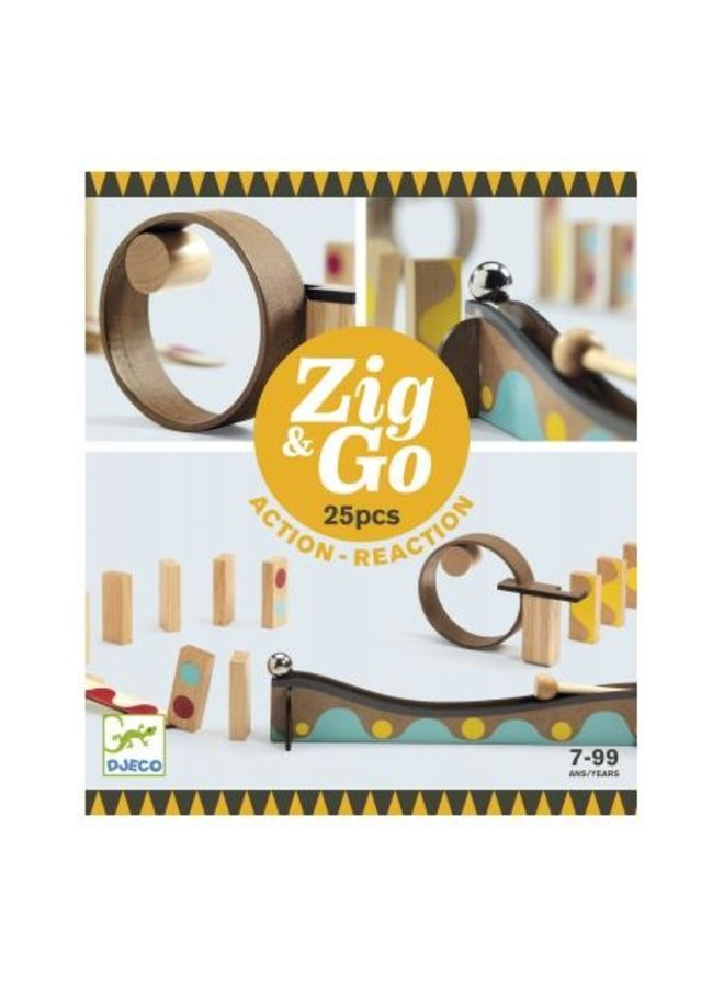 Djeco | zig and go | 25 pieces