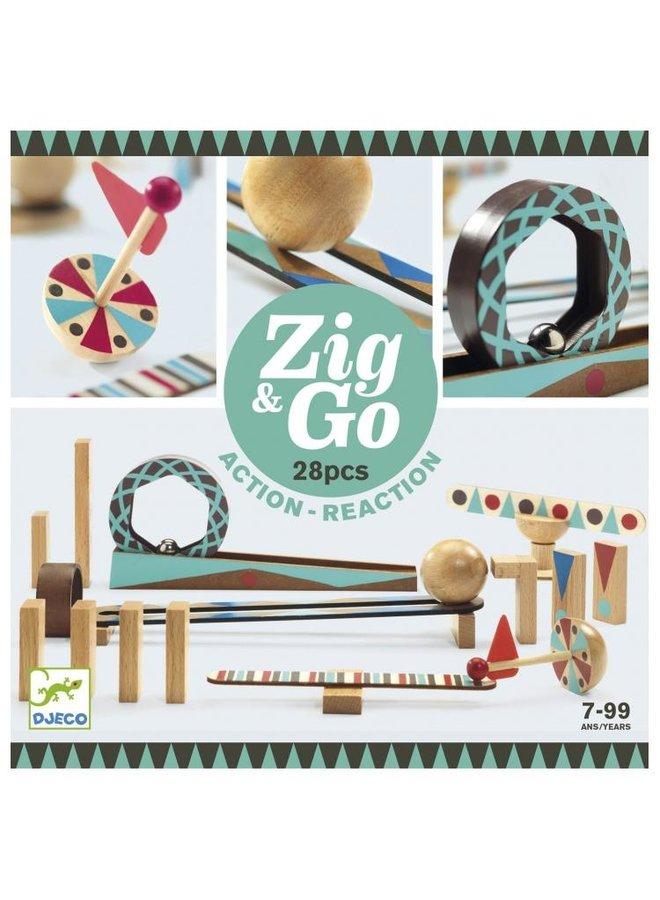 Djeco | zig and go | 28 pieces