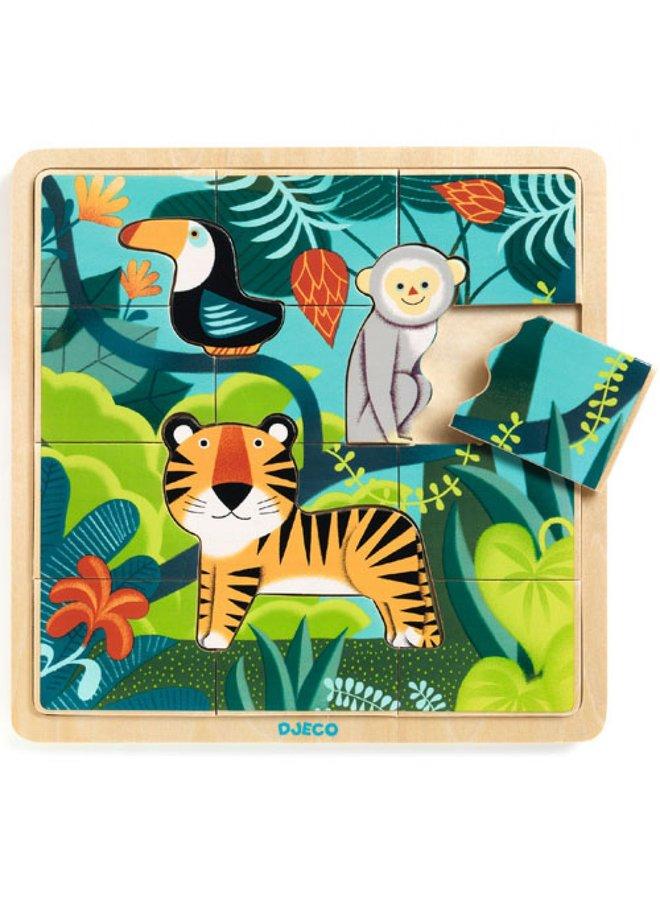 Djeco | houten puzzel | jungle