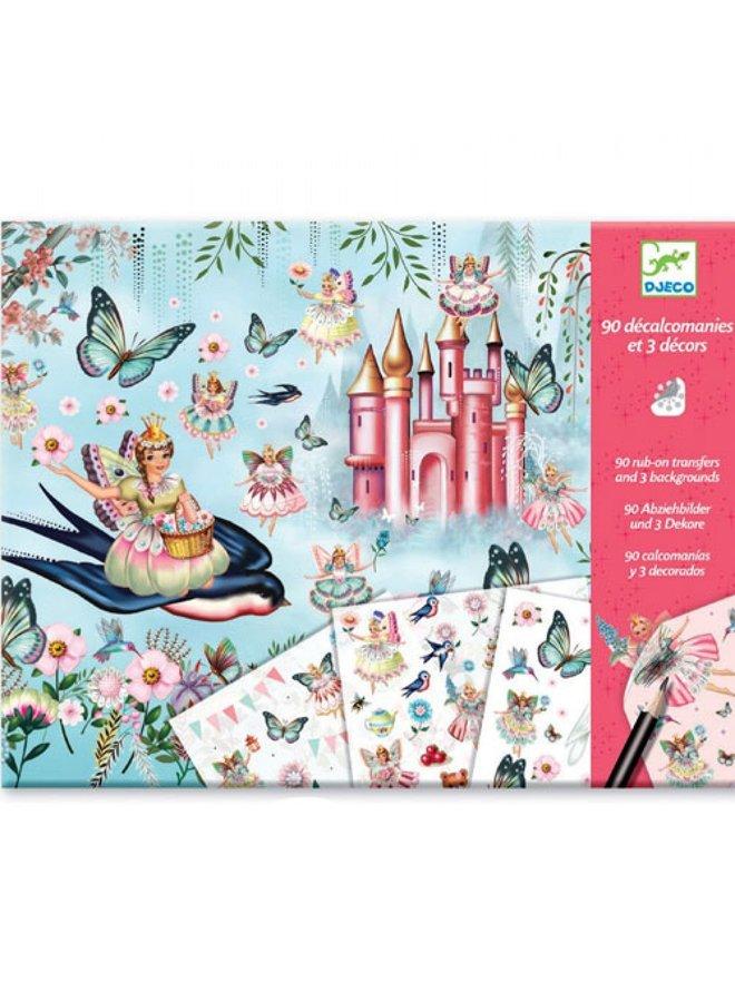 Djeco | knustelpakket | stickers | in fairyland