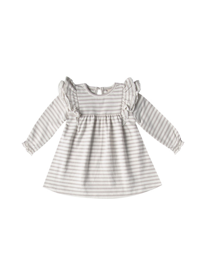 Quincy Mae   longsleeve jurk   fog stripe