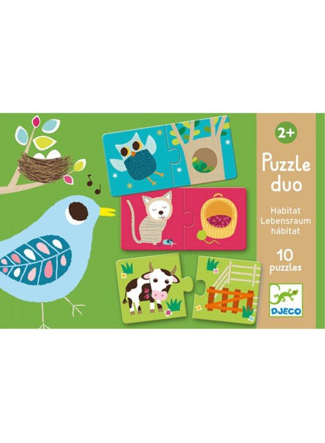 Djeco | duo puzzel | habitat