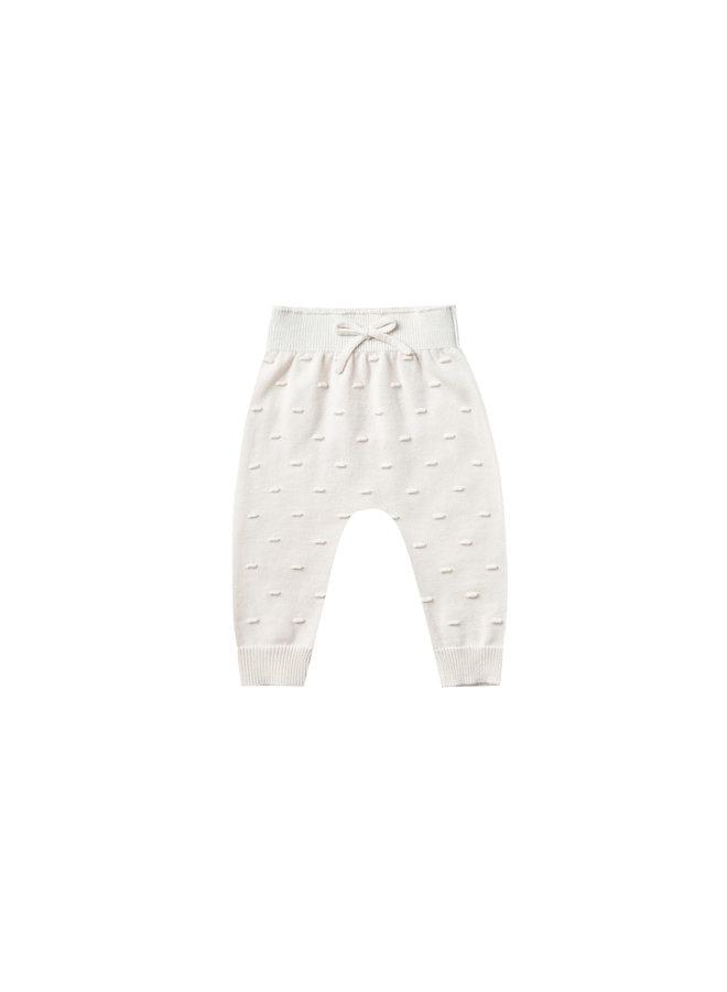 Quincy Mae | gebreide broek | ivory
