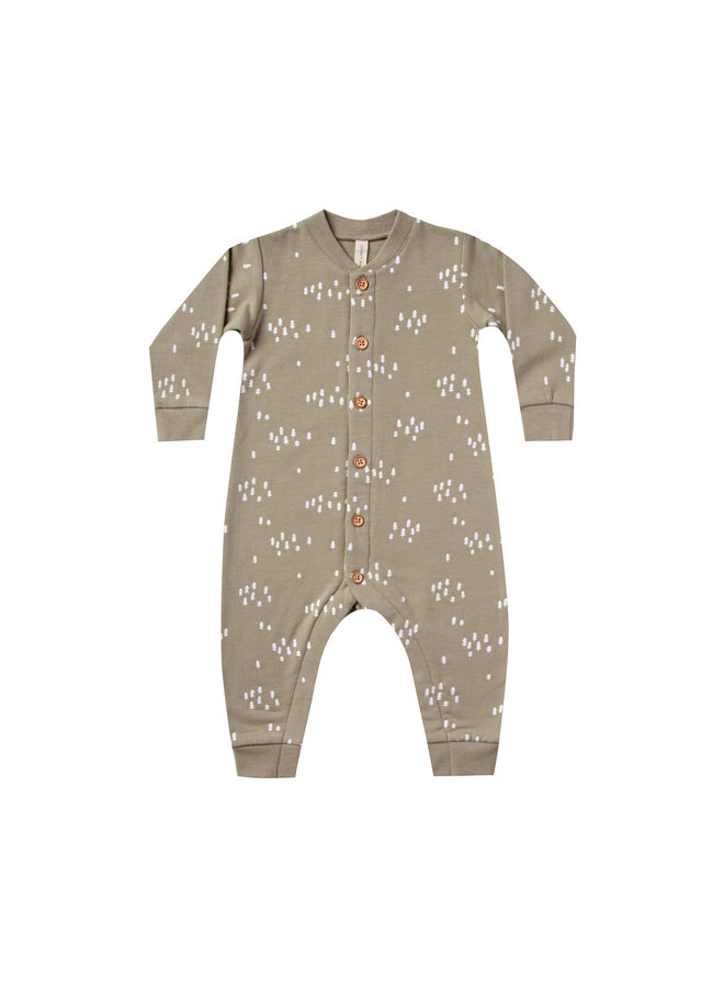 Quincy Mae | fleece onesie | olive