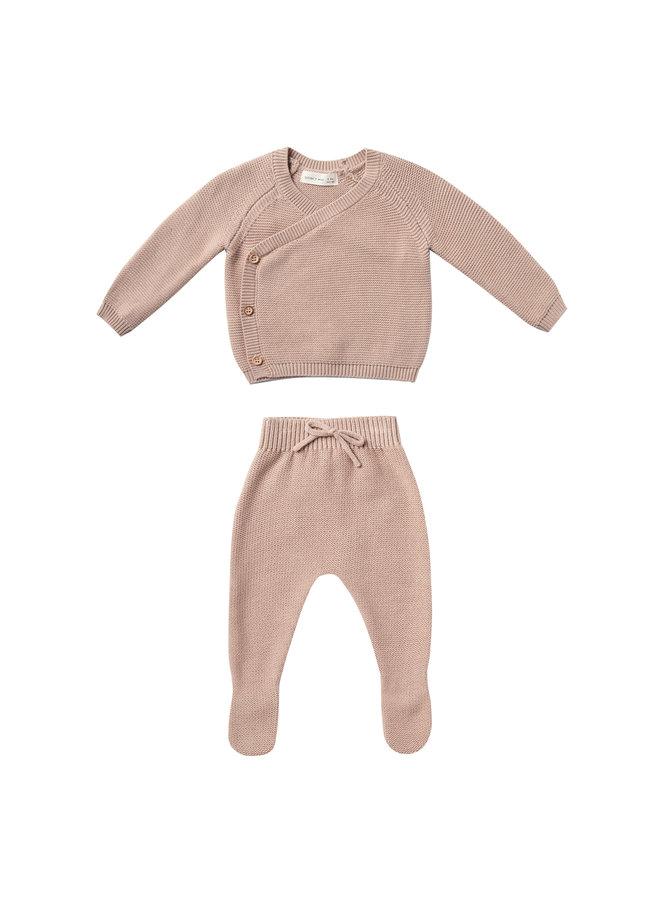 Quincy Mae | knit kimono set | rose