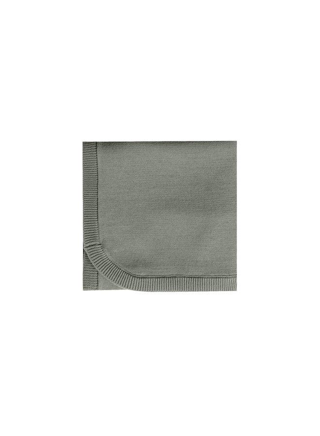 Quincy Mae | knit baby blanket | eucalyptus