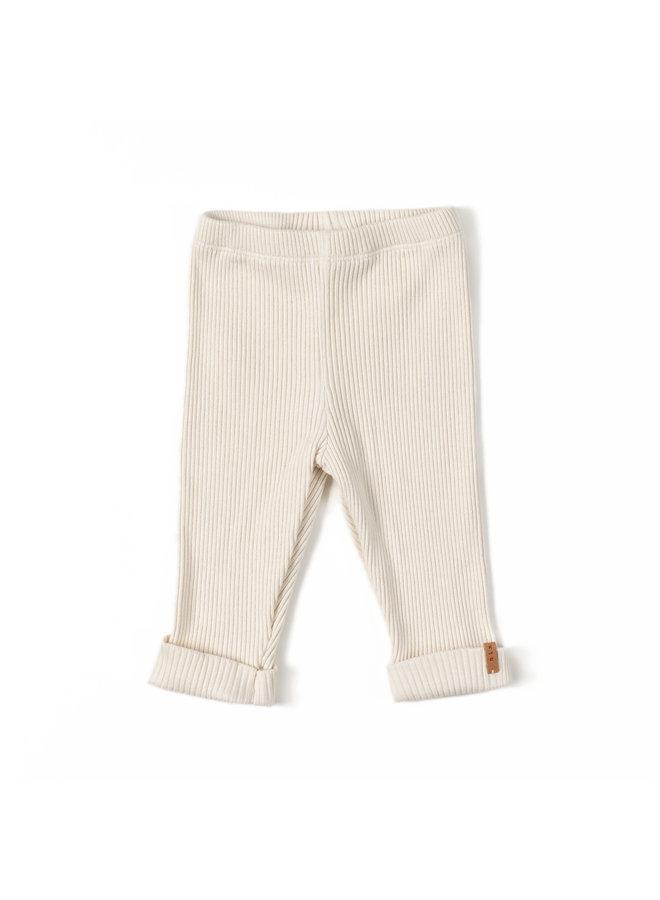 Nixnut | rib legging | cream