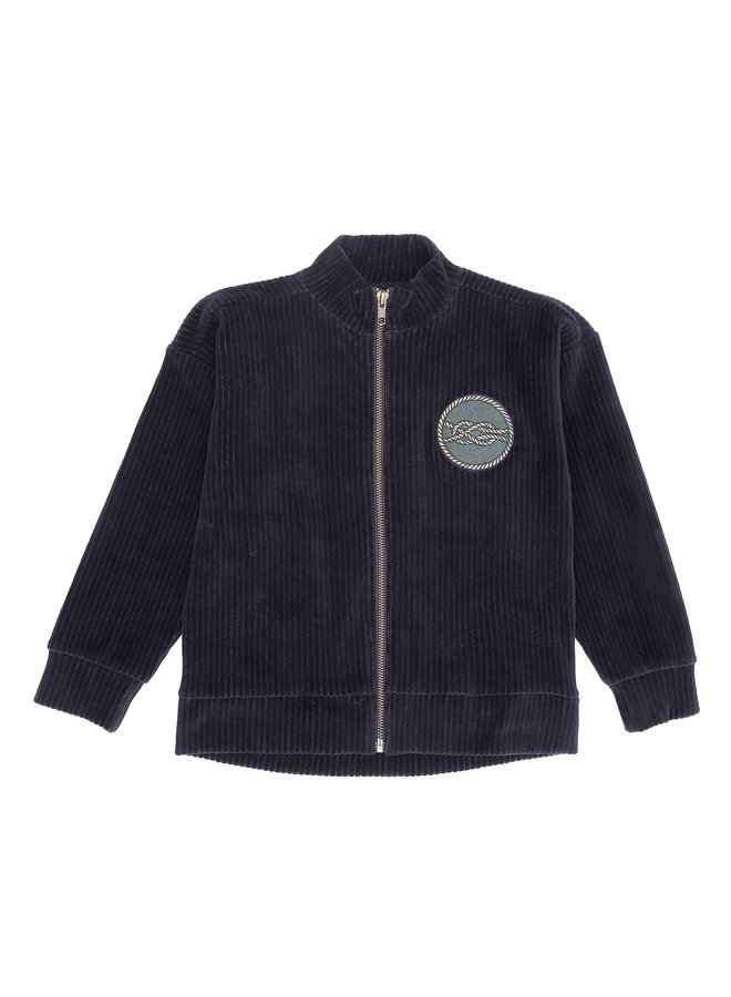 Soft Gallery   dorian jacket carbon   loop embroidery