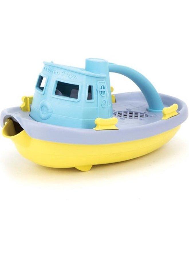 Green toys | sleepboot | blauw handvat