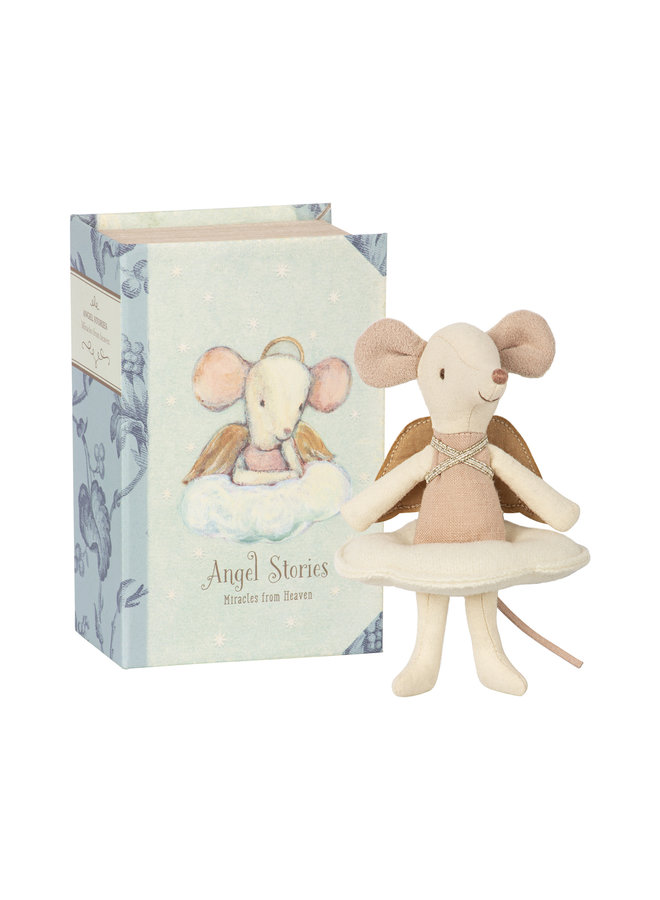 Maileg | angel mouse | big sister in book