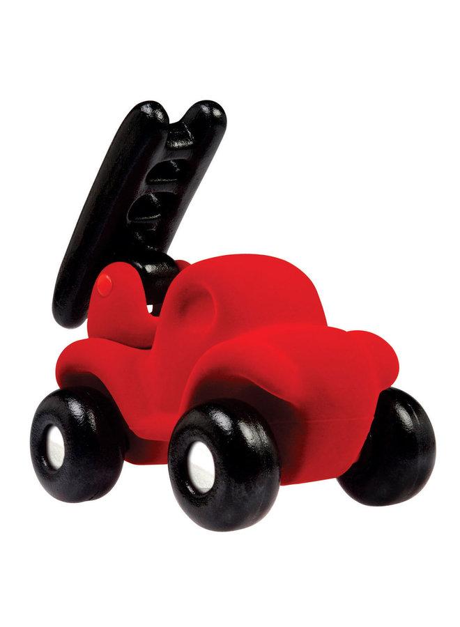 Rubbabu | brandweerauto groot | rood